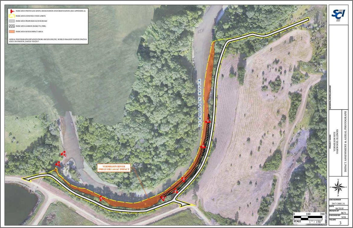 A diagram showing the extent of the wall Dynegy wants to build on the Middle Fork River
